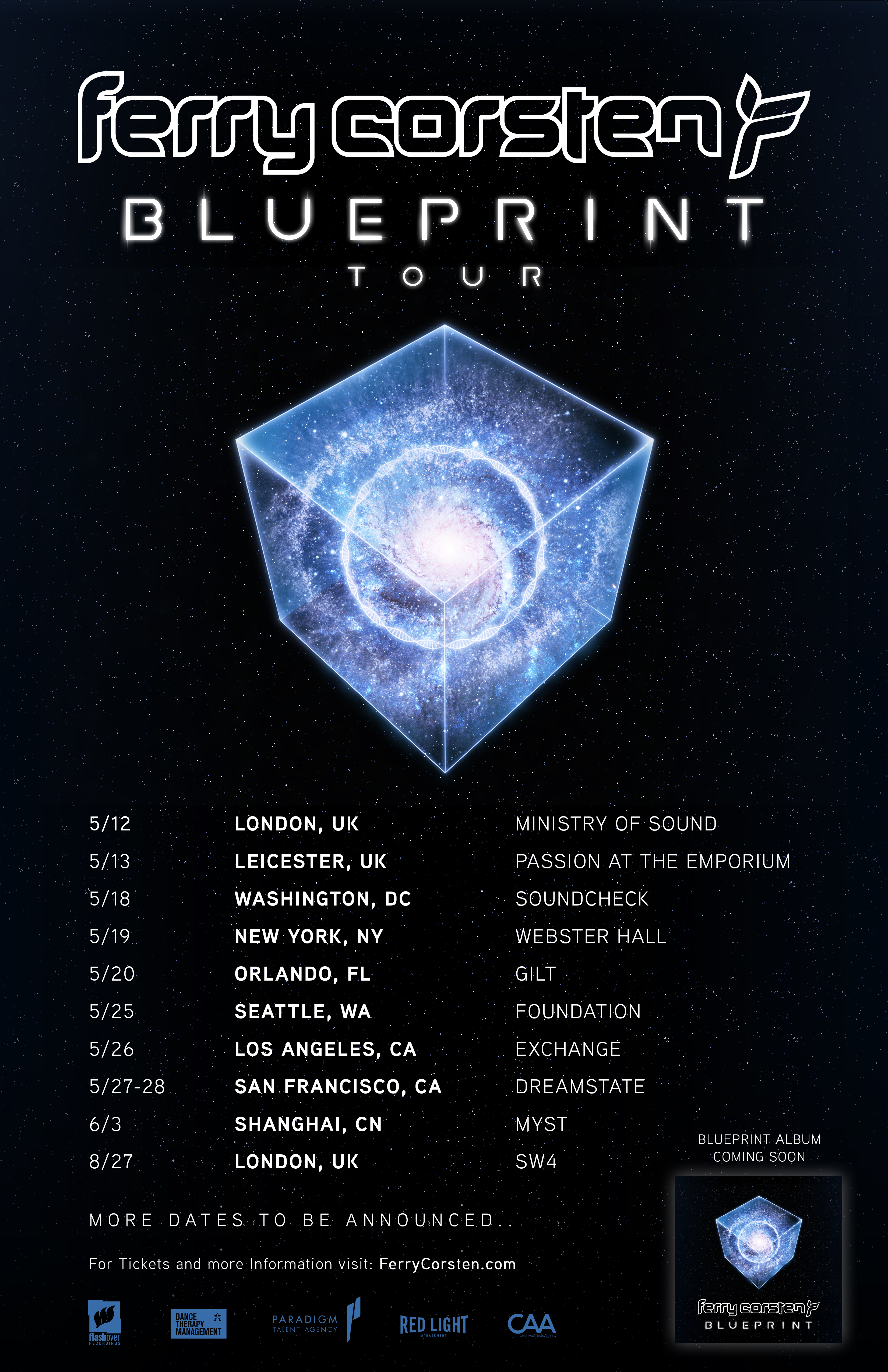 Ferry corsten discovers his blueprint with new sci fi concept the official blueprint album tour will touch down at myst in shanghai sw4 in london exchange in los angeles webster hall in new york with more to be malvernweather Choice Image